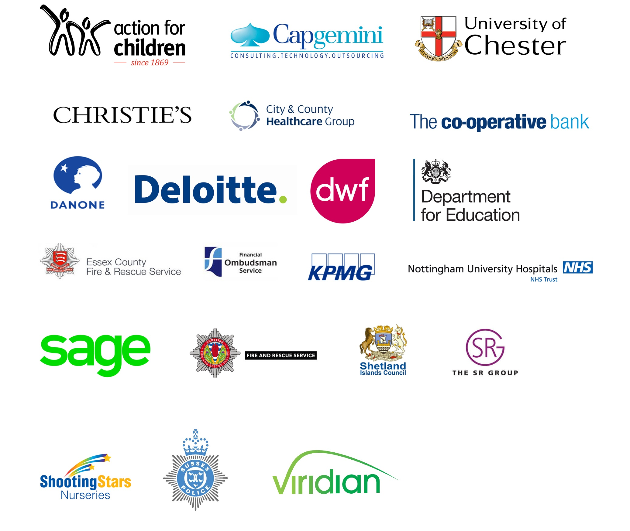Logos of some of our Working Forward business members