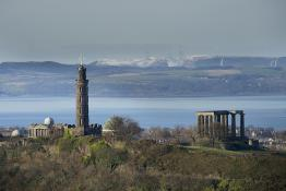The skyline of Edinburgh, Scotland