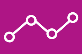 Icon representing a data chart