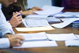 Paperwork on an office desk