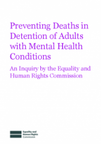 This is the cover of Preventing deaths in dentention of adults with mental health conditions