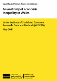 This is the cover for An anatomy of economic inequality in Wales publication