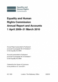 This is the cover of Annual report and accounts 2009-10 publication