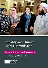 Front cover of the Annual Report 2015-2016