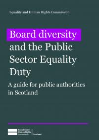 Board Diversity and the Public Sector Equality Duty