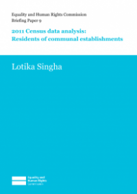 This is the cover of Briefing paper 9: 2011 census data analysis - residents of communal establishments