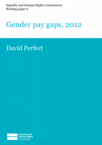This is the cover of Briefing paper 6: gender pay gaps 2012