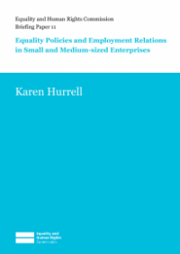 This is the cover of Briefing paper 11: equality policies and employment relations in small and medium-sized enterprises