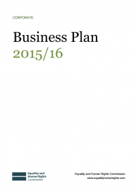 This is the cover of our business plan for 2015 - 2016
