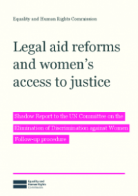 This is the cover of Legal aid reforms and access to justice publication