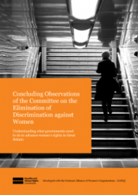 This is the cover of Concluding observations of the Committee on teh Elimination of Discrimination Against Women publication