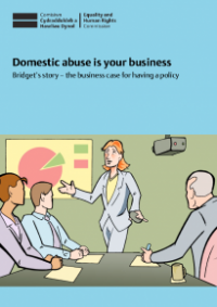 This is the cover of Domestica abuse in your business: Bridget's story publication