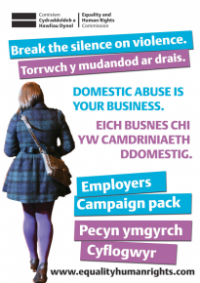 This is the cover of Domestic abuse in your business: employers campaign pack