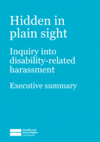 This is the cover for Hidden in plain sight executive summary inquiry report
