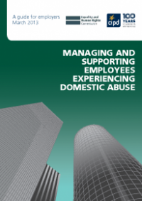 This is the cover for Managing and supporting employees experiencing domestic abuse