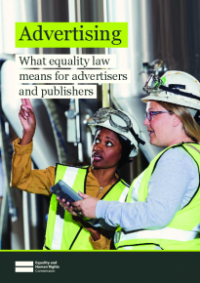 Front cover of What equality law means for advertisers and publishers publication