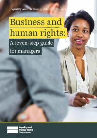 Front cover of Business and human rights: A seven-step guide for managers