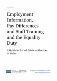 This is the cover of Employment information, pay difference and staff tranining and the equality duty publication