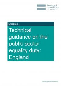 Front cover of our technical guidance on the PSED in England