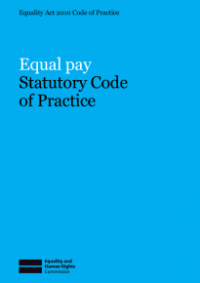 This is the cover of Equal pay statutory code of practice publication