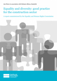 This is the cover for Equality and diversity: good practice for the construction sector publication