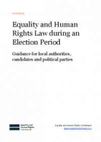 This is the cover for Equality and human rights law during an election period publication