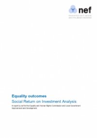 This is the cover of Equality outcomes: social return on investment alaysis publication