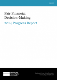 This is the cover of Fair financial decision-making 2014 progress report publication