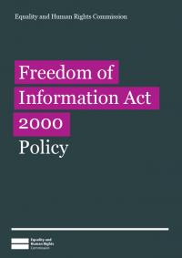 Freedom of Information Act 2000 policy: publication cover image