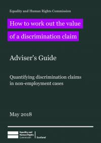 Cover of how to work out the value of a discrimination claim booklet