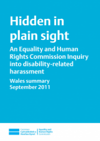 This is the cover of Hidden in plain sight inquiry Welsh summary