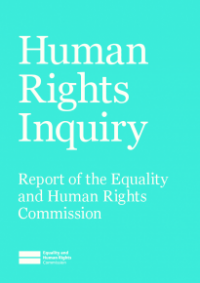 This is the cover of the Human rights inquiry report
