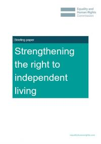 Strengthening the right to independent living briefing paper cover