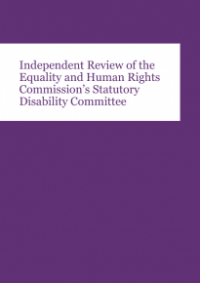 This is the cover of Independent review of the Commission's statutory disability committee