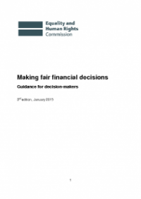 This is the cover for Making fair financial decisions guidance for decision makers