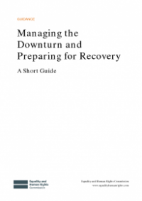 This is the cover for Managing the downturn and preparing for recovery - a short guide