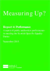 This is the cover of Measuring UP? Report 4: Performance
