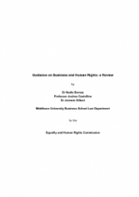 This is the cover of Business an human rights Middlesex university report