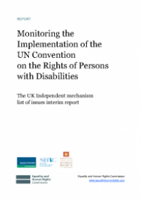 This is the cover of Monitoring the implementation of the UN Convention on the Rights of Persons with Disabilities