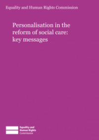This is the cover of Personalisation in the reform of social care: key findings