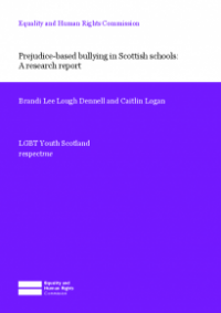 This is the cover of Prejudice-based bullying in Scottish schools - research report