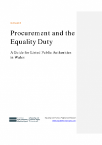 This is the cover of Procurement and the equality duty - a guide for listed public authorities in Wales