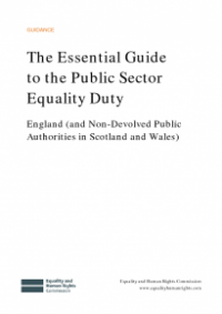 This is the cover of The essential guide to the public sector equality duty England