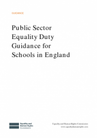 This is the cover of Public sector equality duty guidance for schools in England