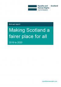 Publication cover: Scotland annual report 2019 to 2020