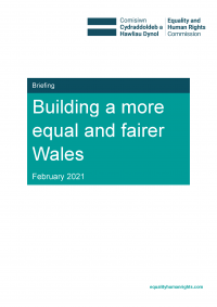 Publication cover: Building a more equal and fairer Wales