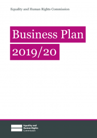 Publication cover: Business plan 2019 to 2020