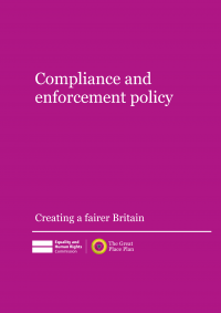 Publication cover: compliance and enforcement policy