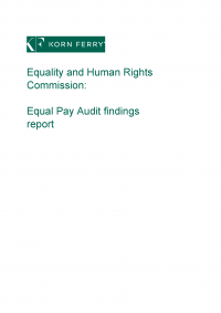 Publication cover: Equal pay audit
