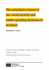 Publication cover: cumulative impact assessment Scotland